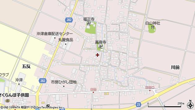 山形県寒河江市日田526周辺の地図