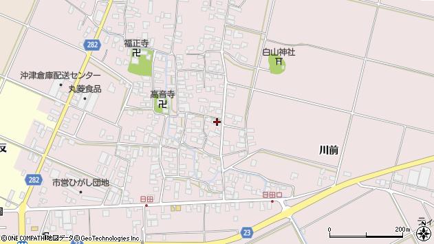 山形県寒河江市日田399周辺の地図