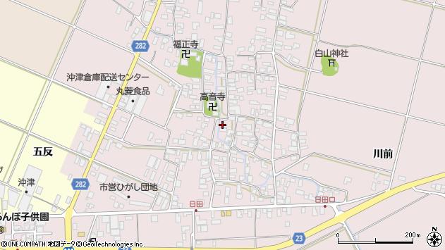 山形県寒河江市日田385周辺の地図