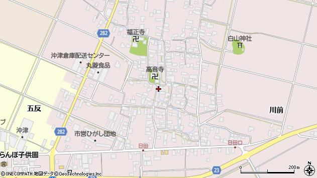 山形県寒河江市日田538周辺の地図