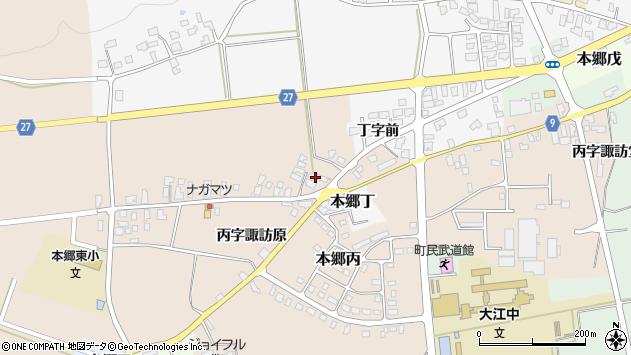 山形県西村山郡大江町本郷丙1665周辺の地図