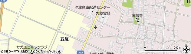 山形県寒河江市日田五反10周辺の地図