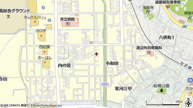 山形県寒河江市寒河江小和田36周辺の地図