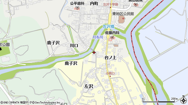 山形県西村山郡大江町左沢1688周辺の地図