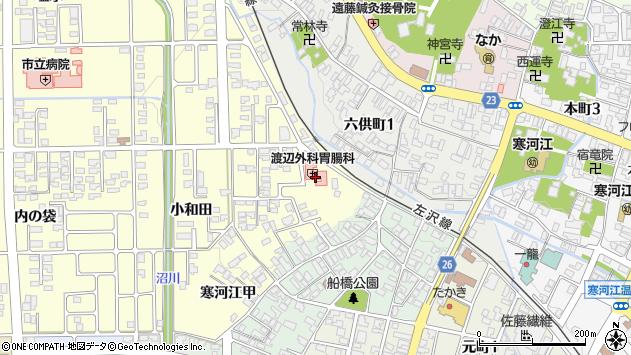 山形県寒河江市寒河江小和田25周辺の地図