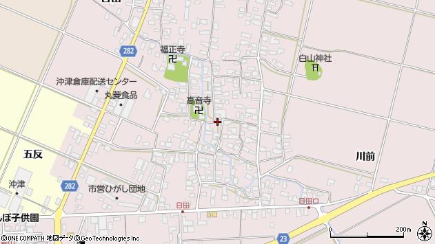 山形県寒河江市日田389周辺の地図