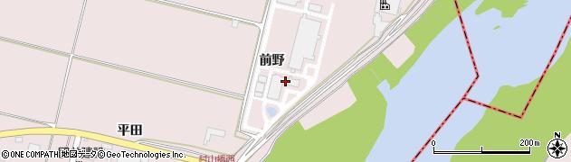 山形県寒河江市日田前野周辺の地図