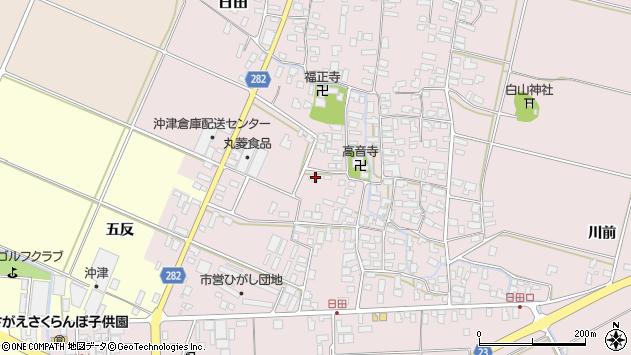 山形県寒河江市日田54周辺の地図