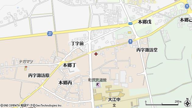 山形県西村山郡大江町本郷丙611周辺の地図
