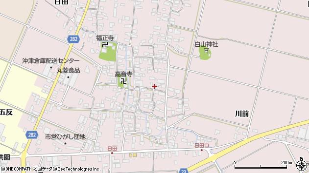 山形県寒河江市日田369周辺の地図