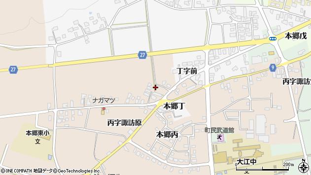 山形県西村山郡大江町本郷丙1666周辺の地図