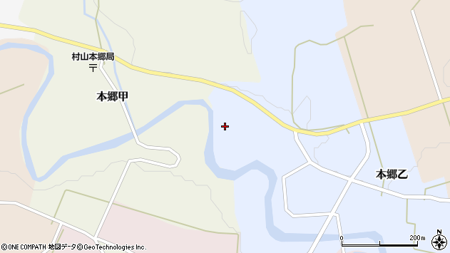 山形県西村山郡大江町本郷乙4周辺の地図