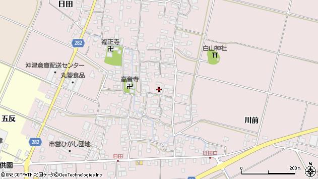 山形県寒河江市日田370周辺の地図