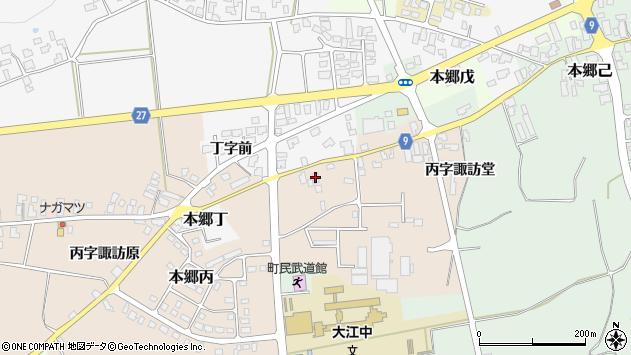 山形県西村山郡大江町本郷丙612周辺の地図