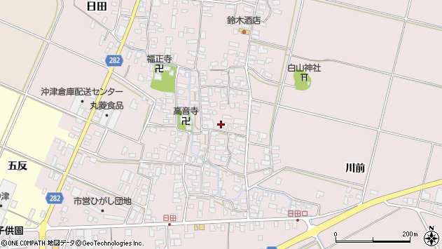 山形県寒河江市日田371周辺の地図