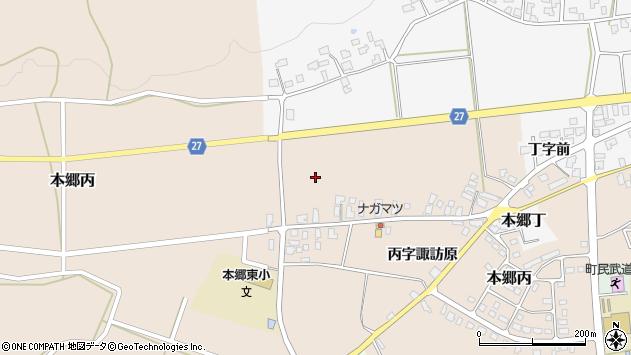 山形県西村山郡大江町本郷丙諏訪原周辺の地図