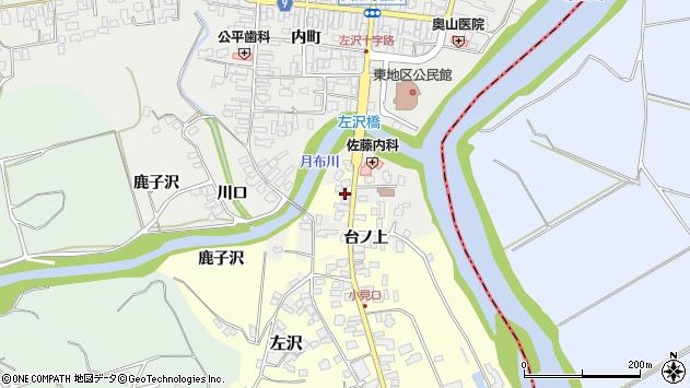 山形県西村山郡大江町藤田2周辺の地図