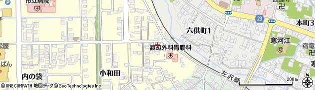 山形県寒河江市寒河江小和田27周辺の地図