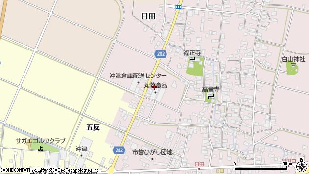 山形県寒河江市日田弓貝周辺の地図
