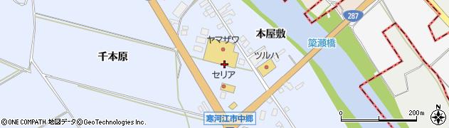 山形県寒河江市中郷角田周辺の地図