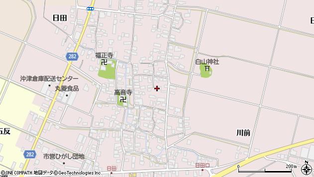 山形県寒河江市日田360周辺の地図