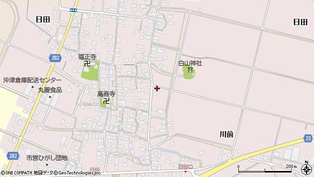 山形県寒河江市日田楯越71周辺の地図