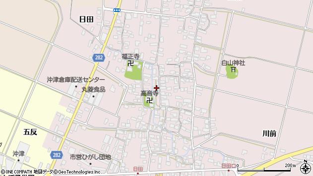 山形県寒河江市日田380周辺の地図