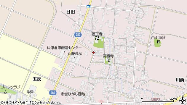 山形県寒河江市日田42周辺の地図