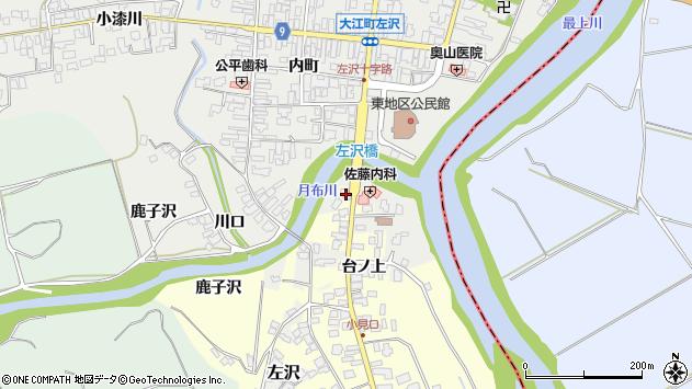 山形県西村山郡大江町藤田4周辺の地図