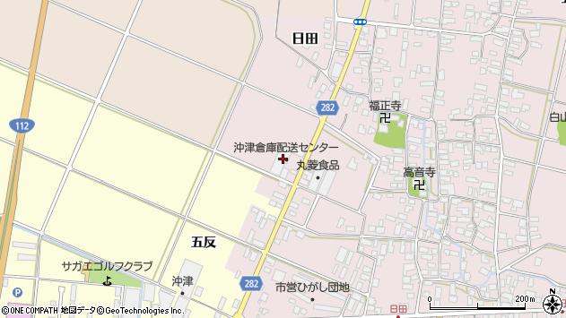 山形県寒河江市日田弓貝62周辺の地図