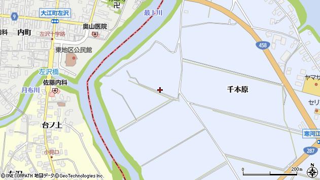 山形県寒河江市中郷南周辺の地図