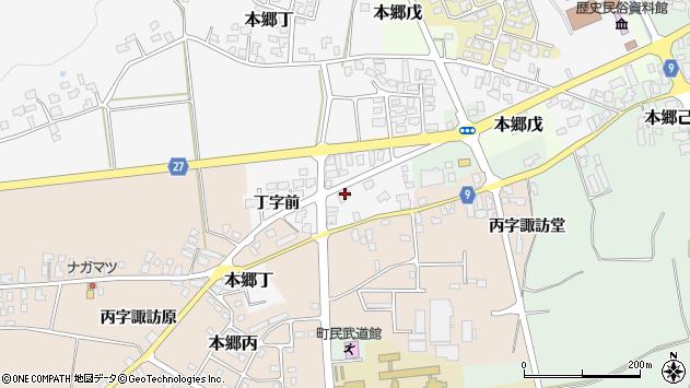 山形県西村山郡大江町本郷丁35周辺の地図