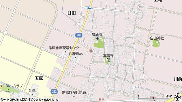 山形県寒河江市日田40周辺の地図