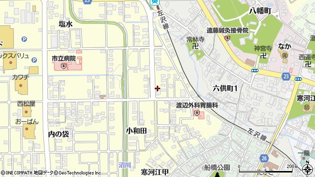 山形県寒河江市寒河江小和田10周辺の地図