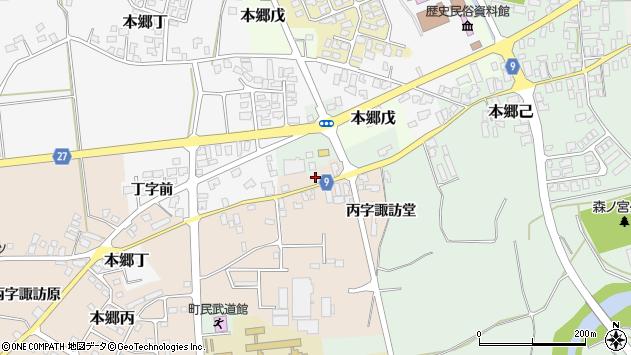 山形県西村山郡大江町本郷丙645周辺の地図