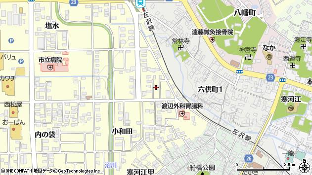 山形県寒河江市寒河江小和田12周辺の地図