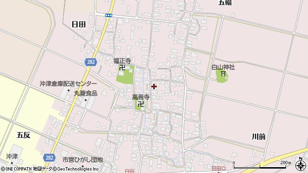 山形県寒河江市日田373周辺の地図