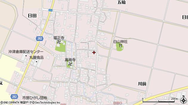 山形県寒河江市日田358周辺の地図