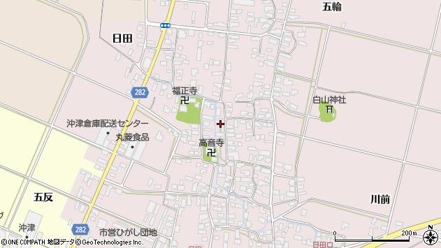 山形県寒河江市日田379周辺の地図
