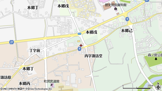 山形県西村山郡大江町本郷丙602周辺の地図