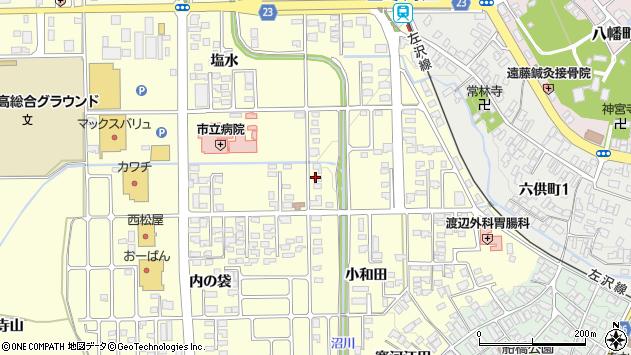山形県寒河江市寒河江小和田1周辺の地図