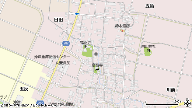 山形県寒河江市日田516周辺の地図