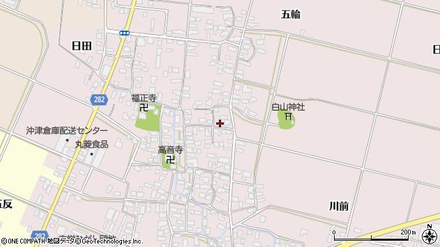 山形県寒河江市日田357周辺の地図