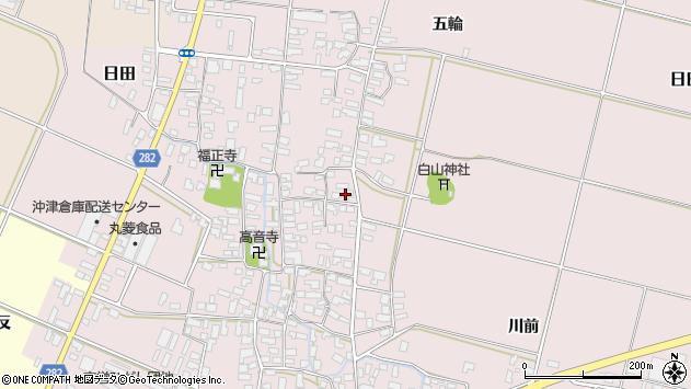 山形県寒河江市日田356周辺の地図