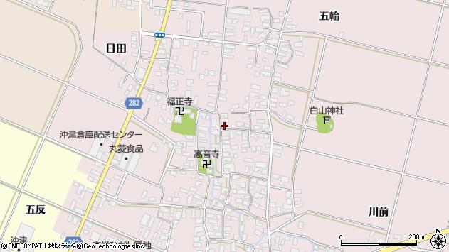 山形県寒河江市日田352周辺の地図
