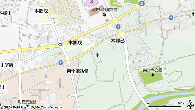 山形県西村山郡大江町本郷己148周辺の地図