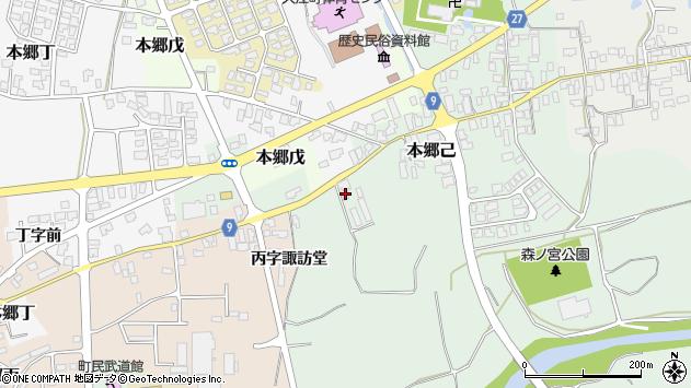 山形県西村山郡大江町本郷己150周辺の地図