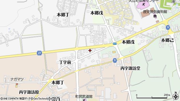山形県西村山郡大江町本郷丁28周辺の地図