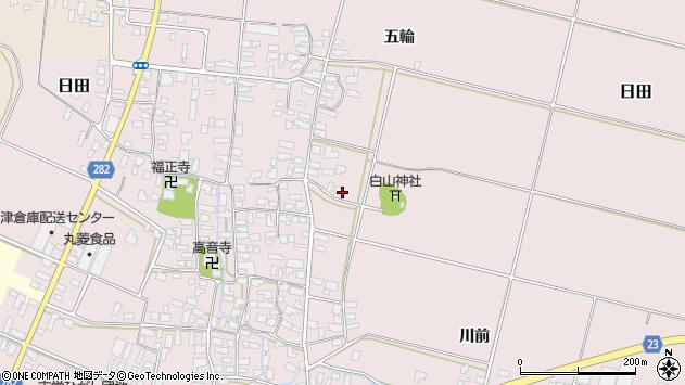 山形県寒河江市日田楯越323周辺の地図