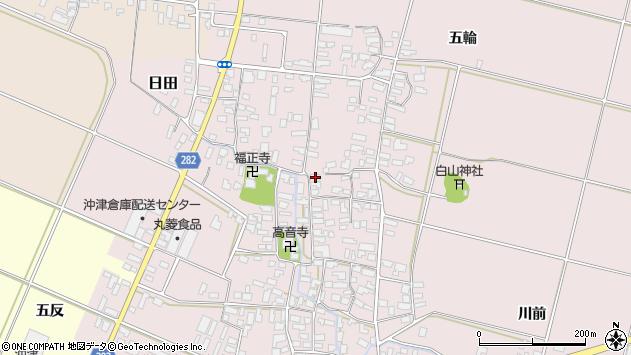 山形県寒河江市日田350周辺の地図